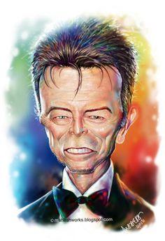 Keanu Reeves caricatures   David-Bowie