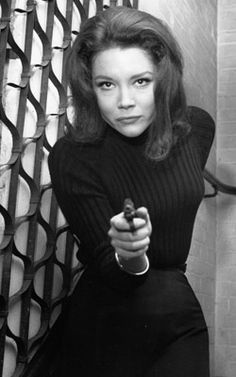 """the incomparable Diana Rigg as Emma Peel.  why did they totally WASTE her as a Bond Beauty in """"In Her Majesty's Secret Service""""?"""