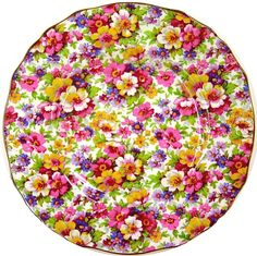Chintz Plate - DuBarry by James Kent