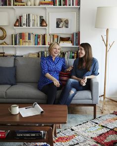 Designing a home for A Cup of Jo:  We first met Emily Henderson in 2010, when she furnished a room with our Bantam Sofa, Random Light and Jens Armchair for HGTV's Design Star and won the show. She is now a successful blogger and interior designer, working for clients like Joanna Goddard, the creator of A Cup of Jo. Both women are huge fans of DWR, and we were happy to work with them to design Goddard's new apartment in Manhattan.