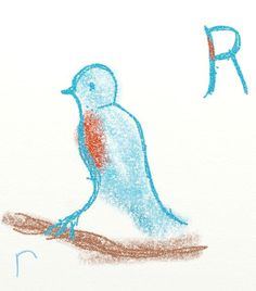 Waldorf ~ grade ~ Letter: R ~ How the Robin got her Red Feathers Teaching Abcs, Learning The Alphabet, Alphabet Activities, Creative Teaching, Waldorf Preschool, Waldorf Curriculum, Waldorf Education, Chalkboard Drawings, Chalk Drawings