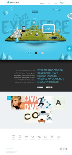 http://goodtwin.co/ like the main feature and color used in the page