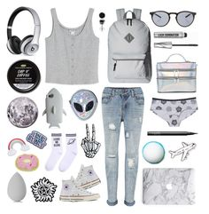 """""""Color Palette Series: Set #4"""" by five-seconds-of-taylor ❤ liked on Polyvore featuring Monki, Converse, Herschel Supply Co., Disturbia, Illesteva, STELLA McCARTNEY, BERRICLE, Beats by Dr. Dre, beautyblender and Bare Escentuals"""