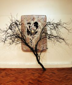 Louise Riley, Embroidery on mattress. Textile Artists, 3 D, Identity, Moose Art, Concept, Embroidery, History, Abstract, Canvas