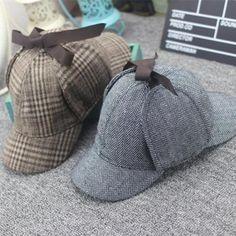 High Quality Cosplay Cap Detective Sherlock Holmes Deerstalker Hat Gray Cups New Berets Cap Vestidos Sherlock Holmes Costume, Detective Sherlock Holmes, Sherlock Outfit, Deerstalker Hat, Grey Cup, Cosplay, Cap, Tote Bag, Berets