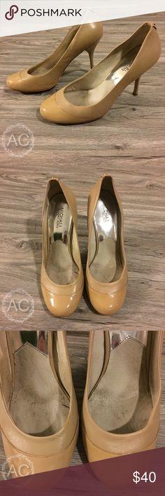 Michael Kors Nude Heels Adorable round toe nude leather heels from Michael Kors. Michael Kors Shoes Heels