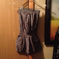 New Listing gray Romper Cute Romper Chesley Shorts