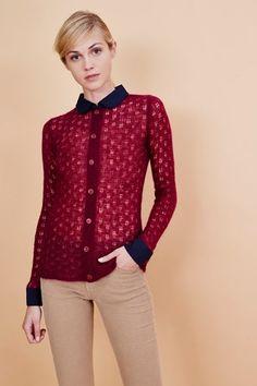 Venda Manoush / 34010 / Tops e camisolas / Top de Mohair Framboesa