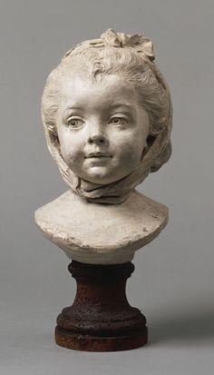 """Fillette au fichu"" sculpture by Jean-Baptiste Lemoyne the Younger France Sculpture Head, Wood Sculpture, Wow Art, Oeuvre D'art, Clay Art, Figurative Art, Zbrush, Amazing Art, Sculpting"