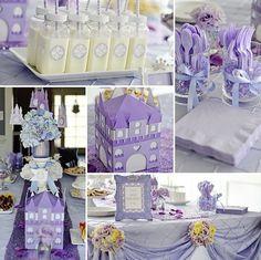 Fiesta de cumpleaños para niña de princesa en tonos lila | i24Web