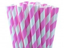 Pink Striped Paper Straws--They're straws, and they're cute and I have no idea if I would use them.... still cute