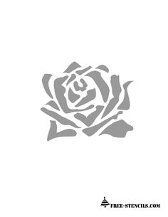 This is another image of rose and you can use this stencil on walls or to paint bed linens and curtains. You can also make beautiful cards for any occasion using this free printable stencil.