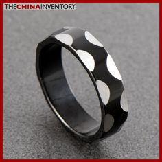 SIZE 8 STAINLESS STEEL BLACK SILVER RING R0604 The Ch, Cheap Jewelry, Jewelry Stores, Black Silver, Antique Jewelry, Rings For Men, Silver Rings, Fashion Jewelry, Size 10