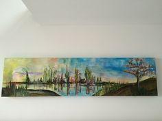 """Reflection II"", Acryl auf Leinwand (40x160), Gesindehaus 17"