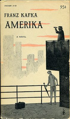 Amerika by Franz Kafka, cover illustration by Edward Gorey published 1955 Best Book Covers, Vintage Book Covers, Book Cover Art, Book Cover Design, Vintage Books, Book Art, Vintage Ideas, Vintage Magazines, Illustrations