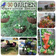 30 Garden container ideas at http://empressofdirt.net/gardencontainerideas/