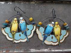 Tin Parrot earrings