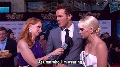When he got bored on the red carpet.   21 Times We Fell In Love With Chris Pratt This Summer