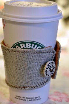 DIY coffee cozy- a g