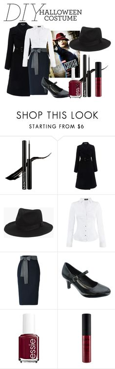 """""""agent carter diy costume"""" by olivertwist1 ❤ liked on Polyvore featuring Roland Mouret, Madewell, Morgan, Sofie D'hoore, Pierre Dumas and Essie"""