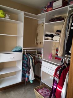 Attractive Custom Fitted Closet Organization (some Shelves Ordered Through Menards)