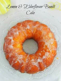 Lemon & Elderflower Bundt Cake #BundtBakers ~ Κεικ με Λεμόνι Χωρίς Γλουτένη