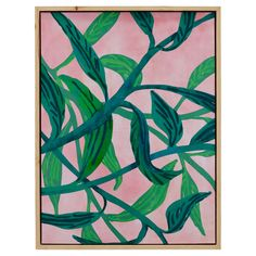 """Free 2-day shipping. Buy Palm Springs Pink Vine Natural Wood 32""""x42"""" Framed Canvas by Drew Barrymore Flower Home at Walmart.com Canvas Frame, Canvas Wall Art, Canvas Prints, Drew Barrymore, Home Wall Decor, Bedroom Decor, Bold Prints, Palm Springs, Decorative Throw Pillows"""