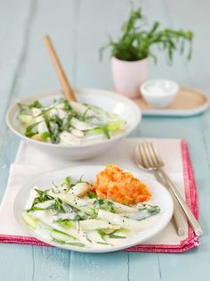 Buntes Spargelraout - auch vegetarisch, laktosefrei und vegen die Spargelsainson geniesen