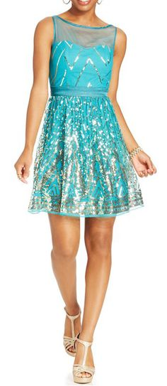 light blue sparkle shimmer dress. Perfect for a winter soirée! #sponsored