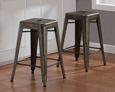 Custom Reclaimed Wood Seat Tolix Style Stool in 30 by sugarSCOUT, $158.00
