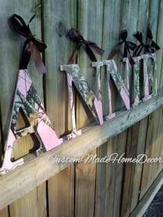 Hey, I found this really awesome Etsy listing at http://www.etsy.com/listing/129800235/9-12-pink-mossy-oak-camo-letters