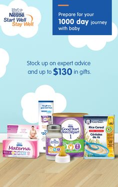 Join Nestlé Baby Club to get expert advice plus coupons and free samples throughout your First 1000 Days of parenthood.