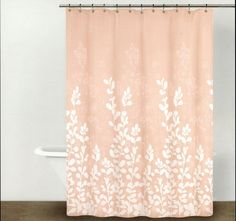 """DKNY Shower Curtain Enchanted Forest Branches/Leaves Blush Peach Pink 72x72"""" #DKNY #Modern"""