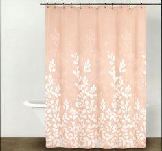 peach bath chevron zigzag shower curtain chevron