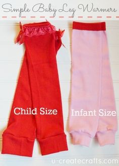 Simple Baby Leg Warmers Tutorial www.u-createcrafts.com ...child and infant sizes!