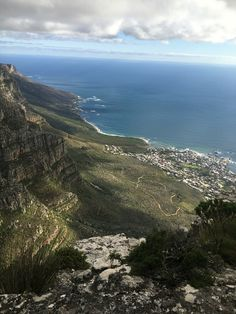 View from the top of Table Mountain in Cape Town, South Africa