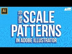 How to Scale Patterns in Adobe Illustrator Tutorial Adobe Illustrator Tutorials, Illustrator Cs, Photoshop Illustrator, Adobe Photoshop, Pattern Illustration, Graphic Design Illustration, Ads Creative, Instructional Design, Graphic Design Tutorials