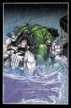 #Hulk #Fan #Art. (Hulk and Punisher) By: Dale Keown. ÅWESOMENESS!!!™ ÅÅÅ+