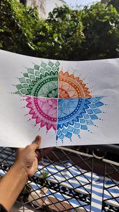 Mandala Sketch, Mandala Drawing, Mandala Doodle, Doodle Art Designs, Doodle Ideas, Doodle Patterns, Art Drawings For Kids, Colorful Drawings, Abstract Pencil Drawings
