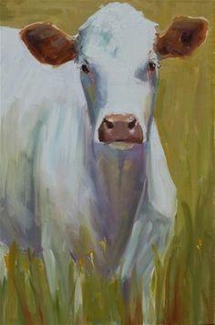 "Daily Paintworks - ""new cow"" - Original Fine Art for Sale - © Carol Carmichael"