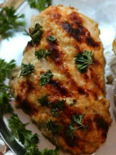 Chicken Baked with Babaganoush. An easy and healthy dinner!