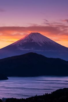 Sunset-Mt.Fuji