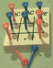 Tic Tac Toe Peg Game - The Woodcrafter Page© 2004