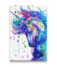 3D Printed Cartoon Colorful Unicorn Canvas Prints Unicorn Painting, Unicorn Wall Art, Unicorn Poster, Framed Art Prints, Canvas Prints, Unicorn Fantasy, Unicorn Pictures, Bunt, Canvas Wall Art