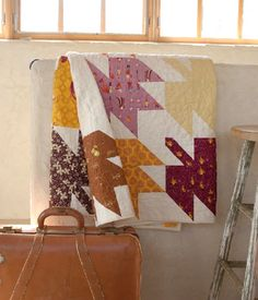 Modern Maples throw quilt by Amanda Woodward-Jennings at Lark Crafts
