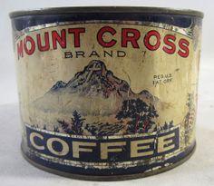 vintage tin: MOUNT CROSS COFFEE, Denver CO. 1#
