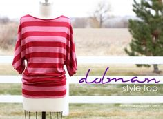 DIY Clothes Refashion: DIY Dolman Style with Banded Bottom