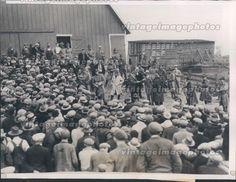 1933 IA Farm Sale Militia Protection Sheriff Hugo Willy Guard Troops Press Photo