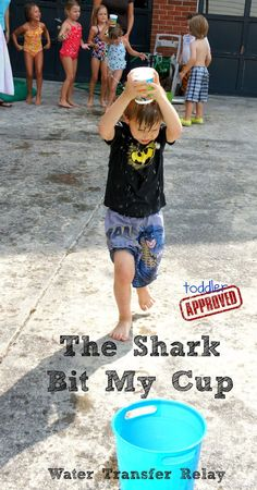Fun water game idea: Shark and Water Themed Fun ... It says it's for…