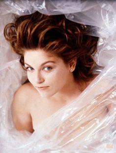 Laura Palmer (Sheryl Lee).  Not so dead, still wrapped in plastic.  (from TV's Twin Peaks)